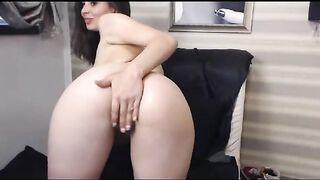 Armenia embarazada con un gran culo desnuda en la webcam