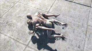 Living Dead se folla a una rubia junto a la piscina en FallOut 3